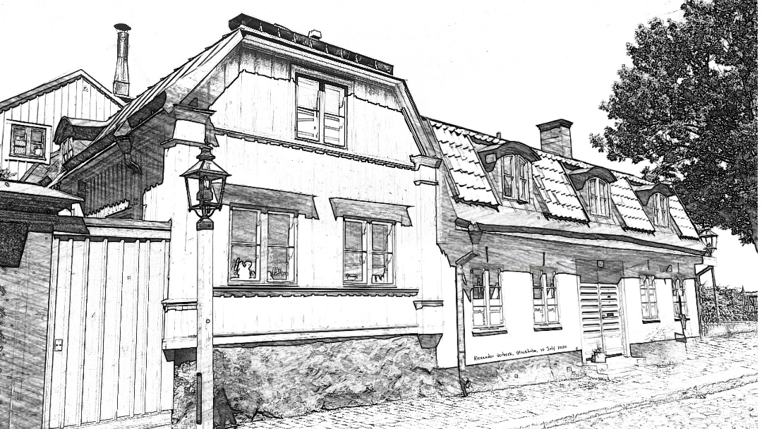 The old wooden houses of Södermalm