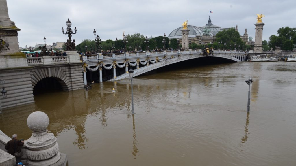flooding in Paris as climate change event to impact daily life