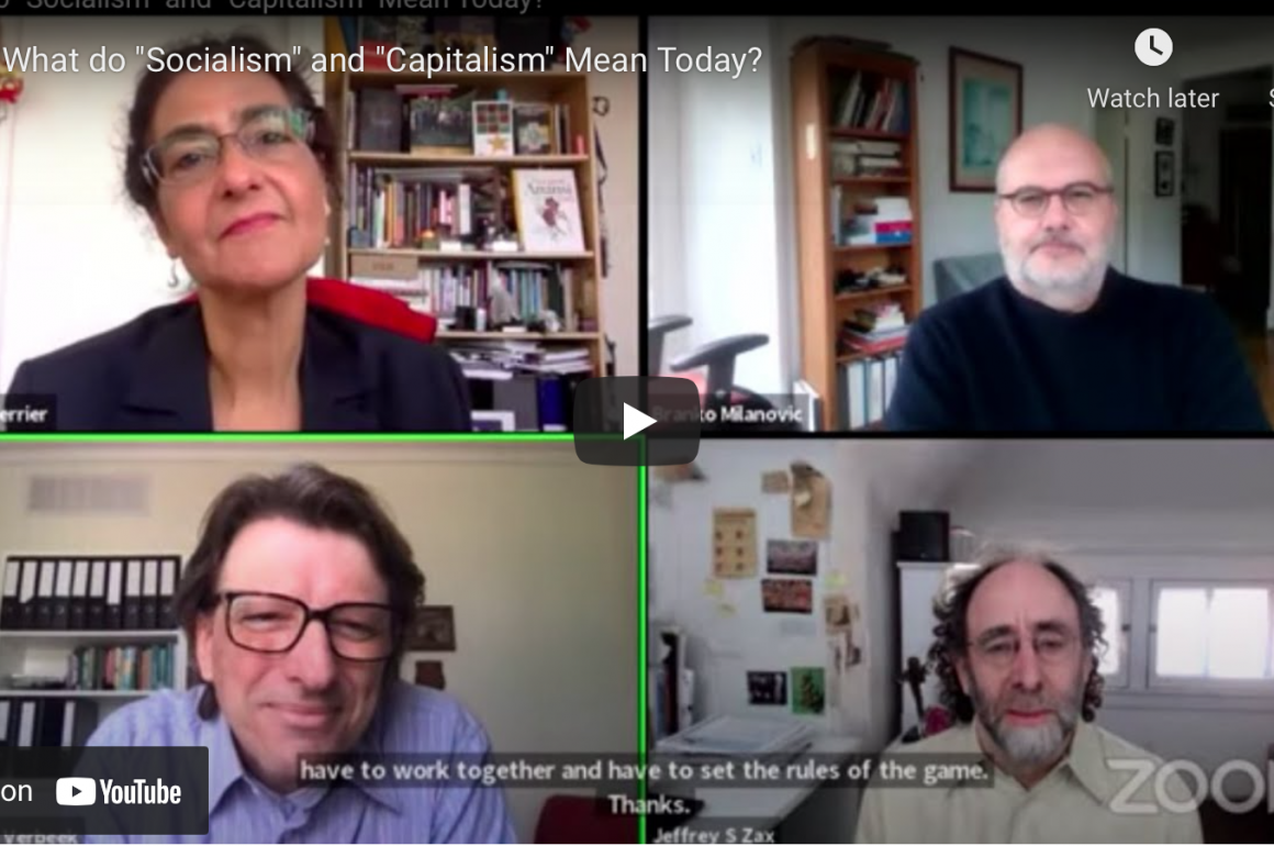 'Socialism or Capitalism' Joining a debate at the Conference on World Affairs
